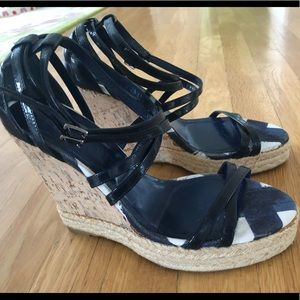 Authentic Burberry Wedge Sandal